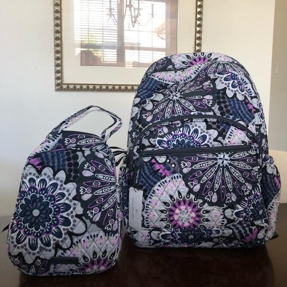 Vera Bradley Backpack Lunch Bag set NWT
